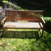 My New Lands' End Teak Bench