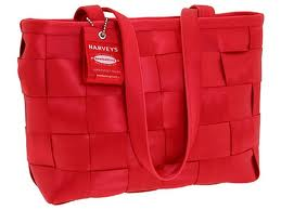 Red Large Tote Seatbelt Bag