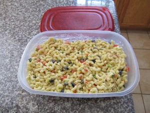 Perfect Macaroni Salad All ready for the Picnic