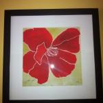 Red Flower print