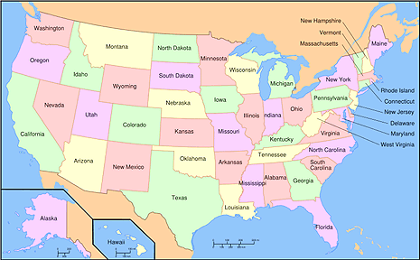 States Capitals And Flags Oh My - Usa map with states and capitals for kids