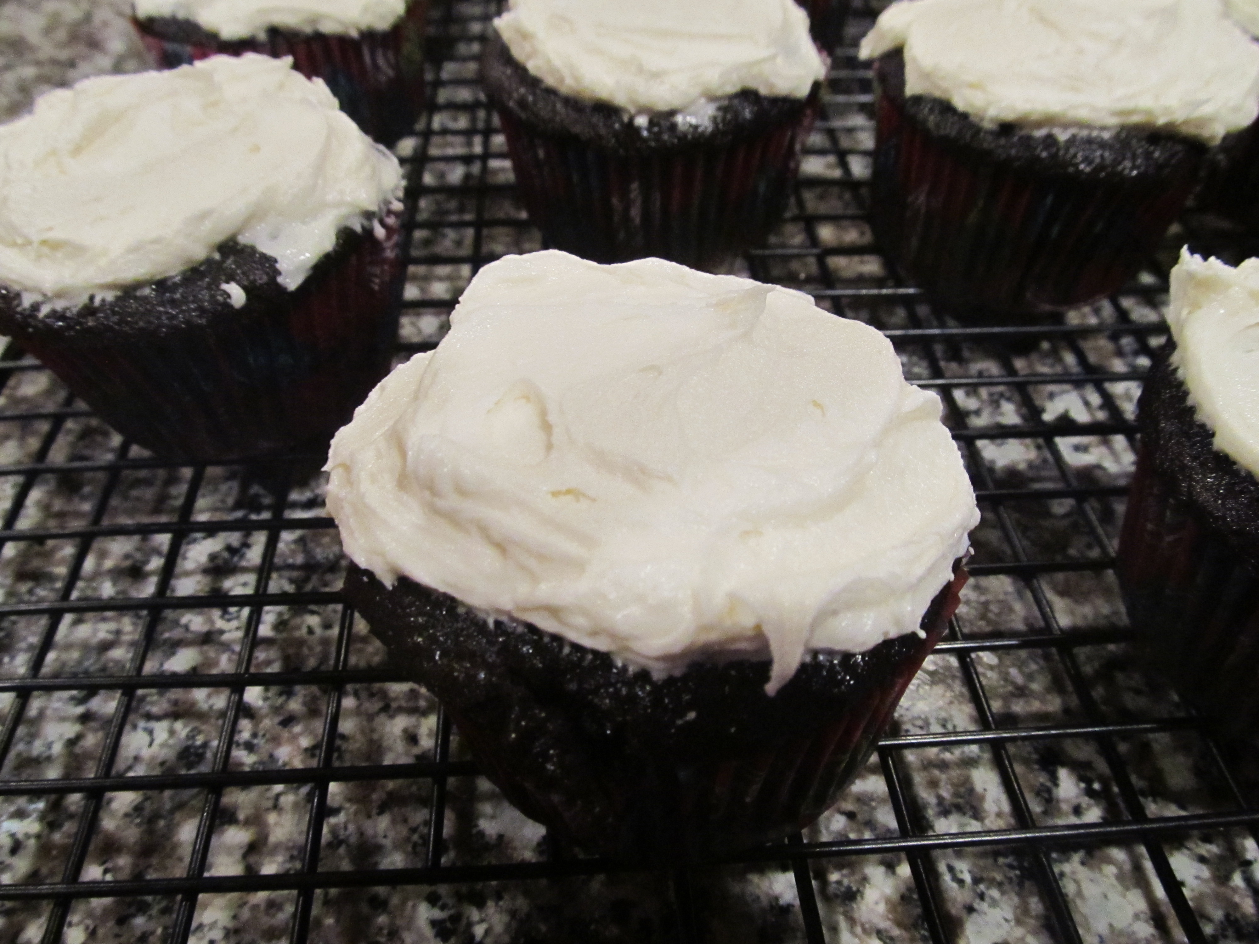 Decadent Dark Chocolate Cupcakes with Homemade Vanilla Frosting