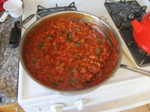 tomato sauce thickening