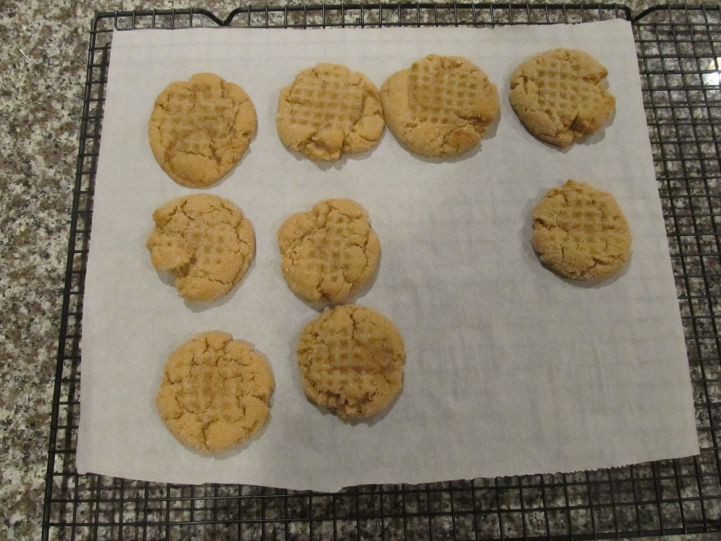 Peanut Butter Cookies out of the oven