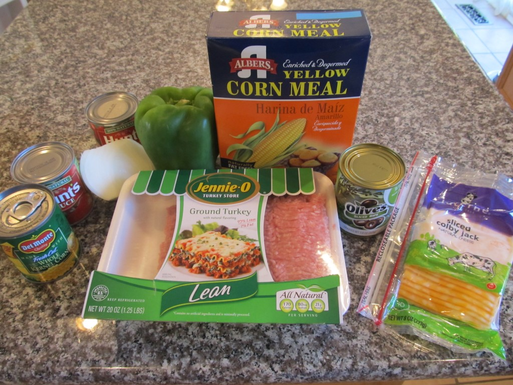 Tamale pie ingredients