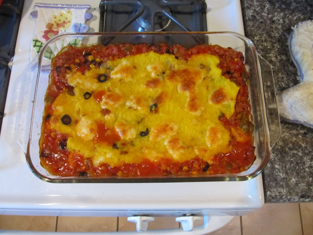 finished tamale pie