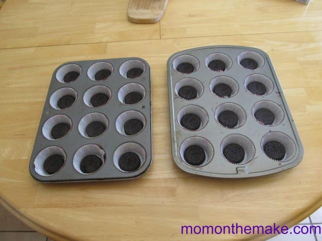 oreo cookie cheesecake cupcakes