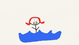 swimmer yelling