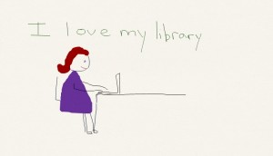 library drawing