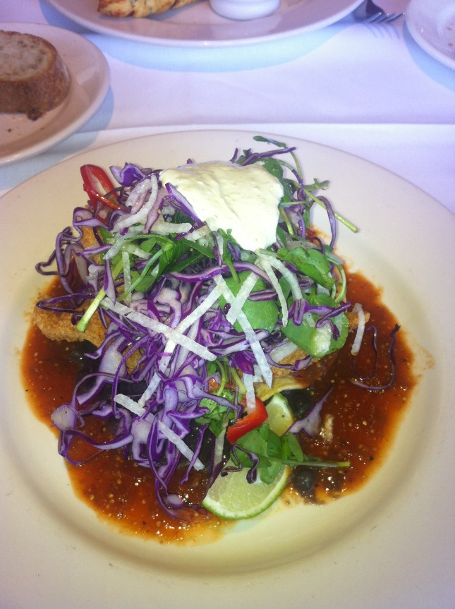 Ever Popular Seafood Tostada Mustards Grill