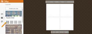 four squares photo collage
