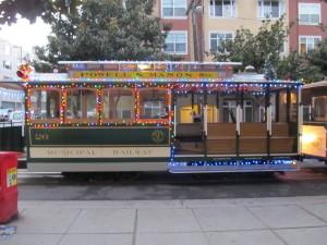 Christmas Cable Cars San Francisco