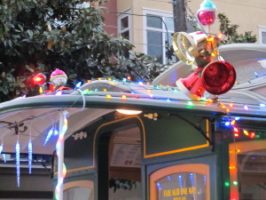 San Francisco Cable Cars at Christmas
