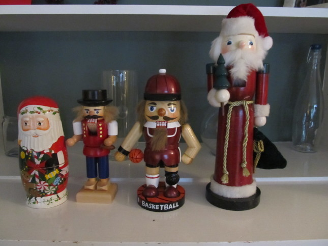 Our cute nutcrackers and Russian nesting doll.