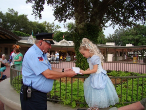 security guard asking princess for autograph