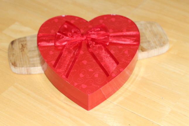 see's candy heart box