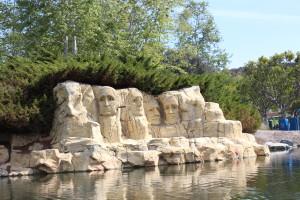 Mt. Rushmore at legoland
