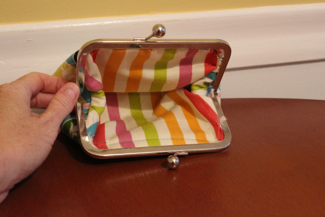 interior of handmade bag